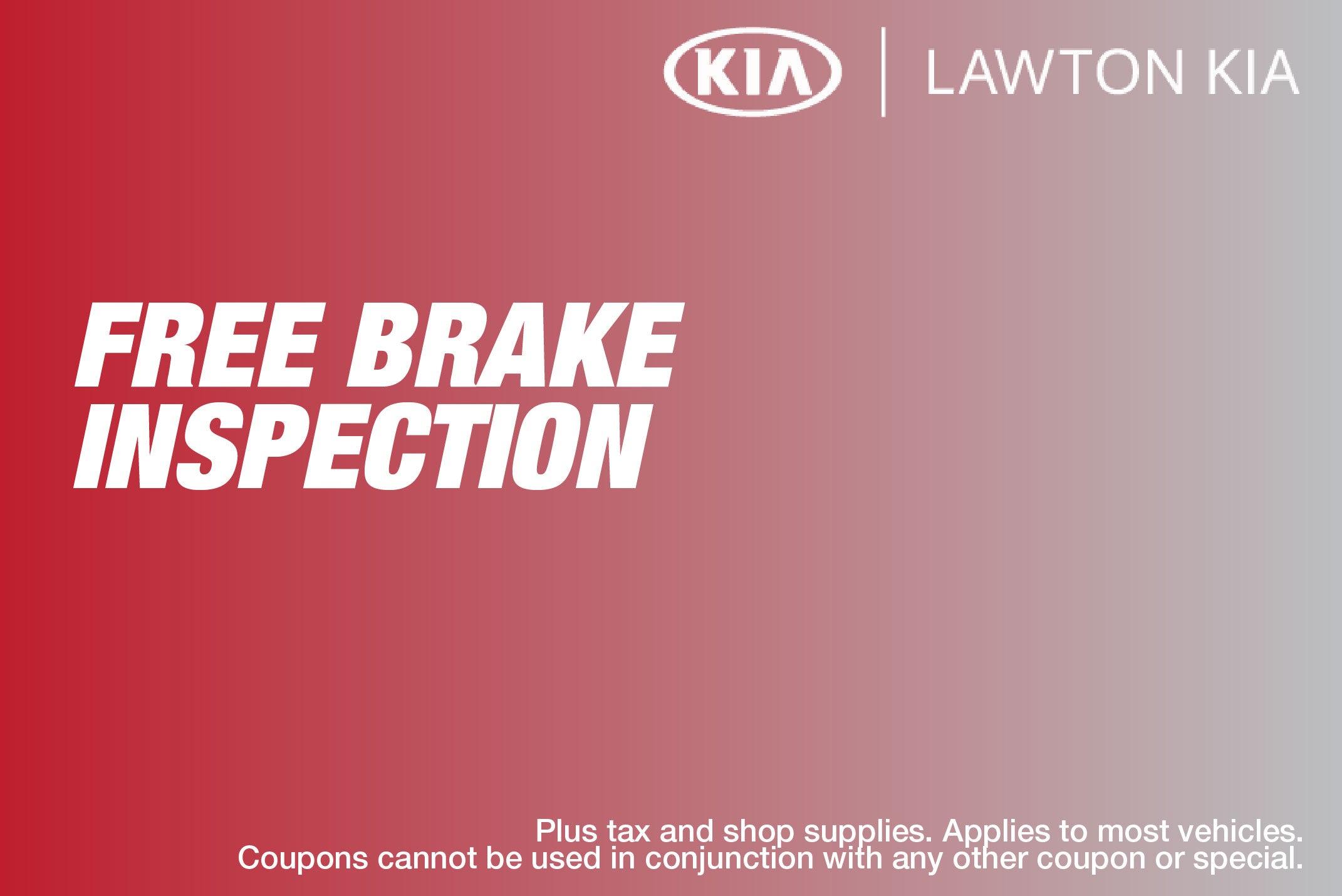 Free Brake Inspection Near Me >> Free Brake Inspection Lawton Kia Specials Lawton Ok
